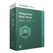 Kaspersky® Antivirus 2017 Software Common License with Maintenance Box, 3 Desktops, Windows