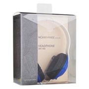MYEPADS MH-090 Over-the-Head Stereo Wired Headset with Microphone, Blue