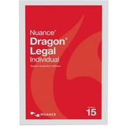 Nuance® Dragon® Legal Individual V.15 Speech Recognition Software, 1 User, Win, DVD (A509A-G00-15.0)