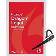 Nuance® Dragon® Legal Individual V.15 Speech Recognition Software with Headset & Dongle, 1 User, WIN (A509A-GN9-15.0)