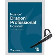 Nuance® Dragon® Pro Individual V.15 Software with Headset and Dongle, 1 User, Win, DVD (K809A-GN9-15.0)
