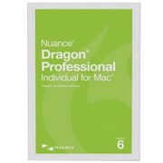 Nuance® Dragon® Pro Individual Academic V.6 Speech Recognition Software, 1 User, Mac OS X, DVD (S601A-F00-6.0)