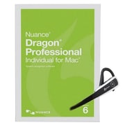 Nuance® Dragon® Pro Individual V.6 Software with Headset and Dongle, 1 User, Mac OS X, DVD (S601A-GN9-6.0)