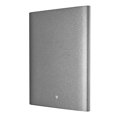 V7® Ultra-Slim Dual USB Power Bank, 17000 mAh, Dark Gray (PB17000P-4NS)