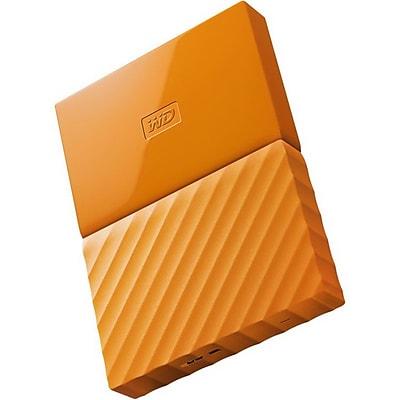 WD® My Passport WDBYNN0010BOR 1TB USB 3.0 Portable External Hard Drive, Orange