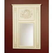 AA Importing Trumeau Mirror; White