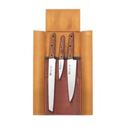 Cangshan W Series 4-Piece German Steel Leather Roll Knife Set