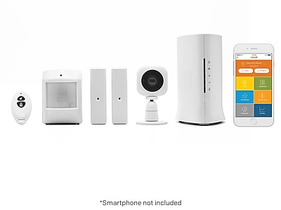 Image of Home8 Security Starter Kit - Wireless Home Security Alarm System with 720p HD Camera and Indoor Siren (H13014US)