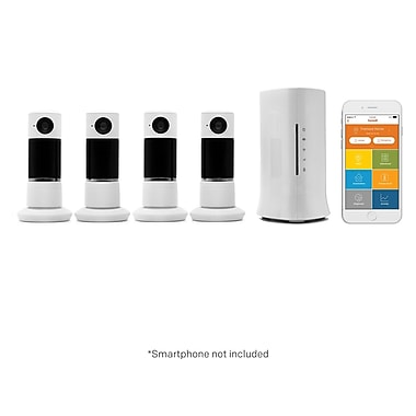 Home8 Twist HD 4 Camera Starter Kit 720p HD Security Camera with Motion/Sound Detection, Night Vision & 2-Way Audio (V43040US)