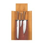 Cangshan H1 Series 4-Piece German Steel Leather Roll Knife Set