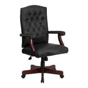 Offex High-Back Leather Executive Chair; Black