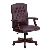 Offex High-Back Leather Executive Chair; Burgundy
