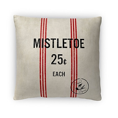 Kavka Mistletoe Fleece Throw Pillow; 18'' H x 18'' W x 4'' D