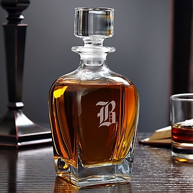 Home Wet Bar Draper Personalized 24 oz. Whiskey Decanter; H