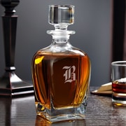 Home Wet Bar Draper Personalized 24 oz. Whiskey Decanter; P