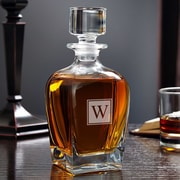 Home Wet Bar Draper Personalized 24 oz. Whiskey Decanter; N