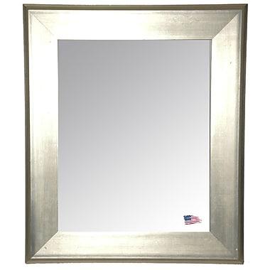 Willa Arlo Interiors Rectangle Antique Silver Wall Mirror; 33'' H x 27'' W x 1.75'' D