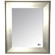 Willa Arlo Interiors Rectangle Antique Silver Wall Mirror; 26'' H x 22'' W x 1.75'' D