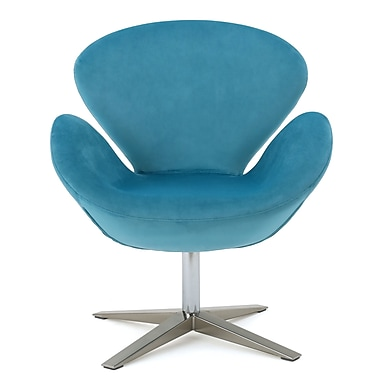 Brayden Studio Khronos Swivel Armchair; Blue