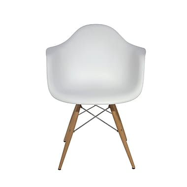Nuevo Earnest Arm Chair; White