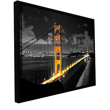 ArtWall 'San Fransisco Bridge I' by Revolver Ocelot Framed Photographic Print on Wrapped Canvas