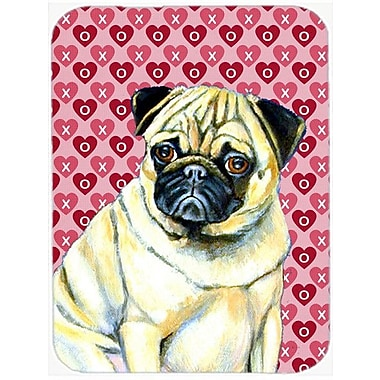 Valentine Hearts Pug Hearts Love and Valentine's Day Portrait Glass Cutting Board