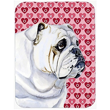 Valentine Hearts English Bulldog Hearts Love and Valentine's Day Glass Cutting Board