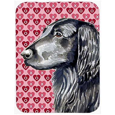 Valentine Hearts Flat Coated Retriever Hearts Love and Valentine's Day Glass Cutting Board