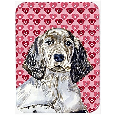 Valentine Hearts English Setter Hearts Love and Valentine's Day Glass Cutting Board
