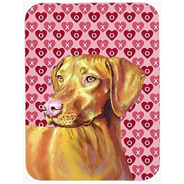 Valentine Hearts Vizsla Hearts Love and Valentine's Day Portrait Glass Cutting Board