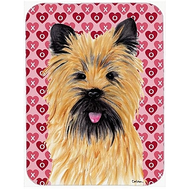 Valentine Hearts Cairn Terrier Hearts Love and Valentine's Day Glass Cutting Board