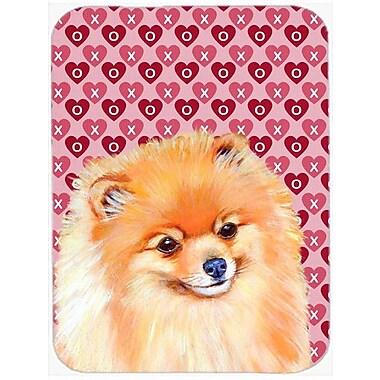Valentine Hearts Pomeranian Hearts Love and Valentine's Day Portrait Glass Cutting Board