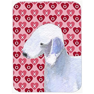 Valentine Hearts Bedlington Terrier Hearts Love and Valentine's Day Glass Cutting Board