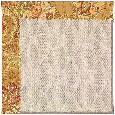 Capel Zoe Light Brown Indoor/Outdoor Area Rug; Square 4'