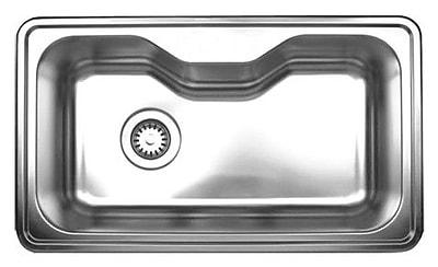 Whitehaus Collection Noah's 33.5'' x 19.75'' Single Bowl Drop-in Kitchen Sink