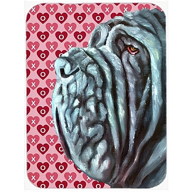 Valentine Hearts Neapolitan Mastiff Hearts Love and Valentine's Day Glass Cutting Board