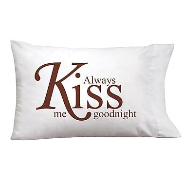 Imagine Design Sleep On It Kiss Goodnight Pillow Case