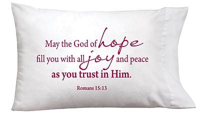 Imagine Design Sleep On It Hope, Joy, Peace Pillow Case