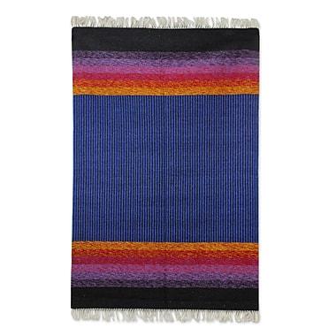 Novica Hand-Loomed Blue Area Rug