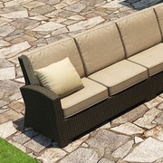 Forever Patio Barbados Left Arm Facing Sectional Loveseat w/ Cushions