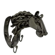 Novica Rustic Racehorse Recycled Metal Horse Coat Rack