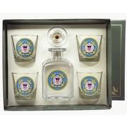 Richard E. Bishop 5-Piece Coast Guard Decanter Set