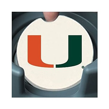 CounterArt NCAA Car Coaster (Set of 2); Miami Hurricanes