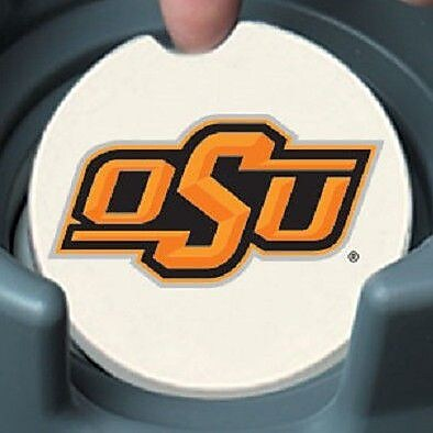 CounterArt NCAA Car Coaster (Set of 2); Oklahoma State Cowboys WYF078279303979