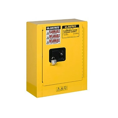 Justrite Sure-Grip 22''H x 17''W x 8''D 1 Door EX Mini Flammable Safety Cabinet