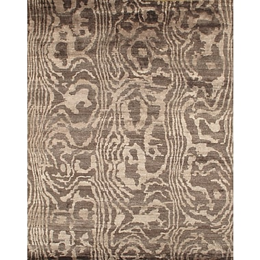 Pasargad NY Hand-Knotted Brown Area Rug