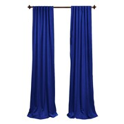 LA Linen Window Treatment Set; Royal Blue