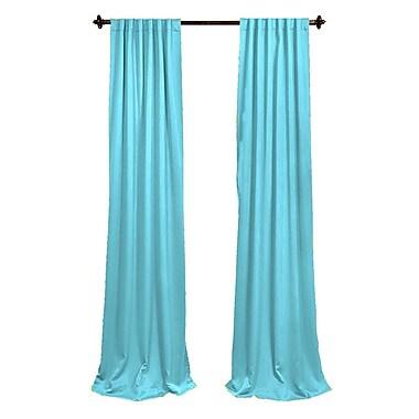 LA Linen Window Treatment Set; Light Turquoise