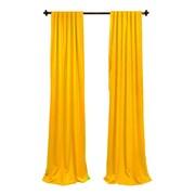 LA Linen Window Treatment Set; Dark  Yellow