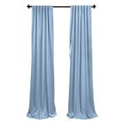 LA Linen Window Treatment Set; Light Blue
